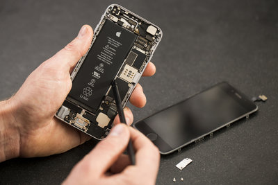 Iphone 6s Plus reparatie, Accu vervangen