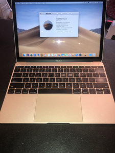 "Macbook 12"" Gold, 8 Gb ,256 Gb SSD,OSX 10.14 Refurbished"